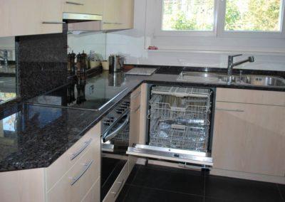 modern kitchen with XL-Miele dishwasher